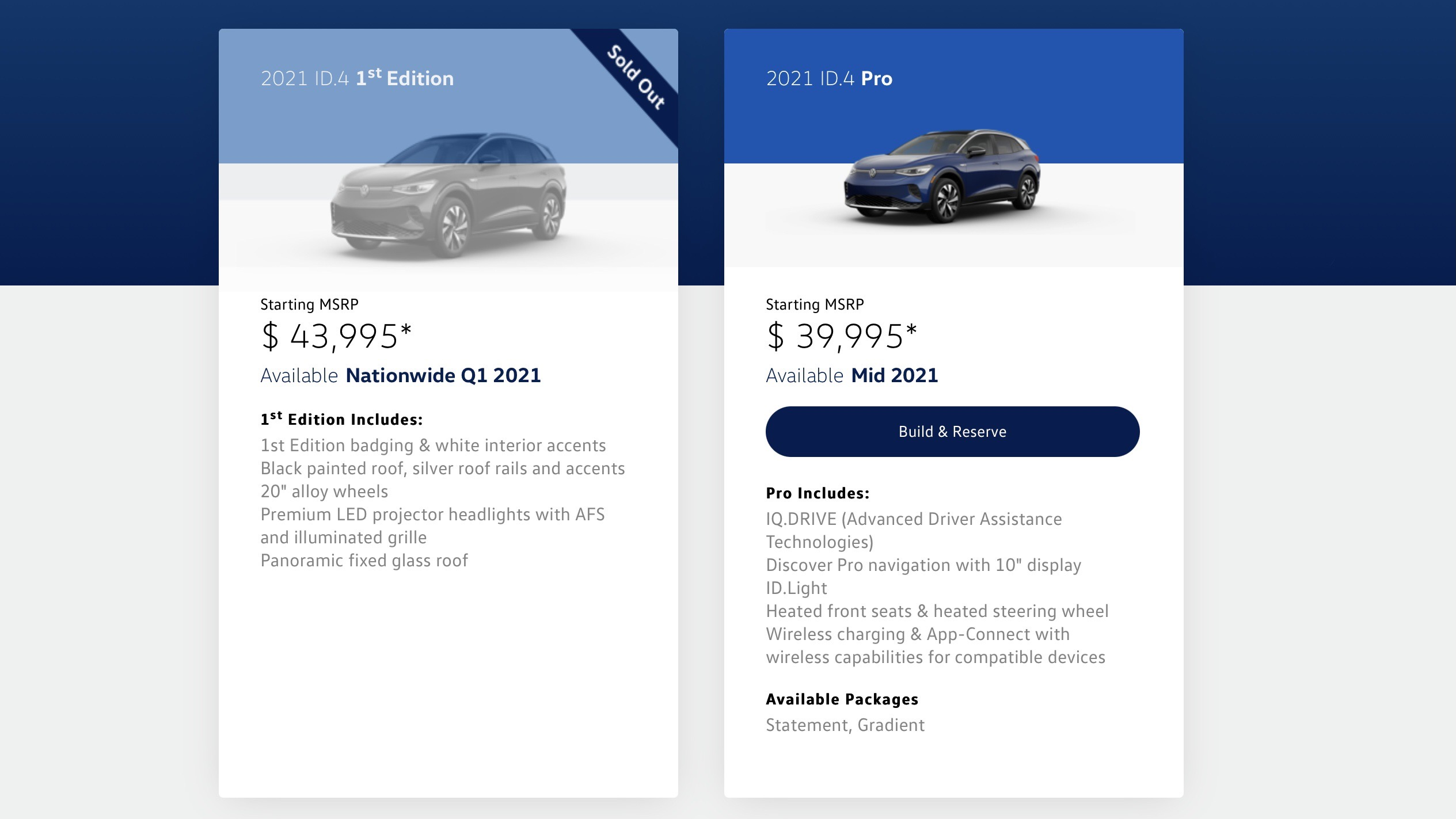 La Volkswagen ID.4 1st Edition sold out in poche ore negli USA
